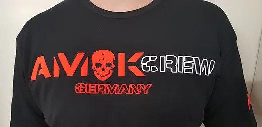 AmokCrew neues Design . Das Tshirt mit der besseren Qualität