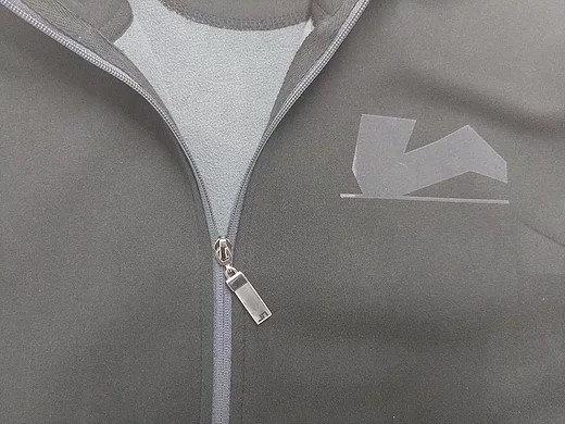 Der Legendäre schwarze Zipper innen grau