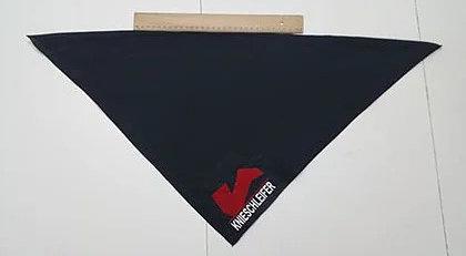 Halstuch 50 cm x 50 cm mit Logo und Namen Knieschleifer