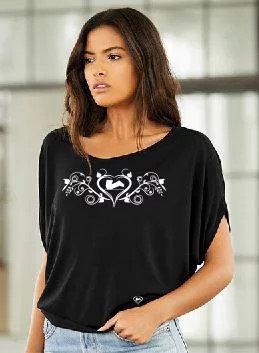 Knieschleifer Herzranken T-Shirt ...denn wir haben auch Damen