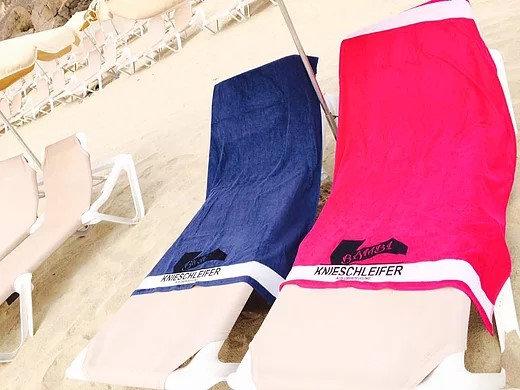 Das Handtuch der Knieschleifer Wunsch-druck im Logo möglich