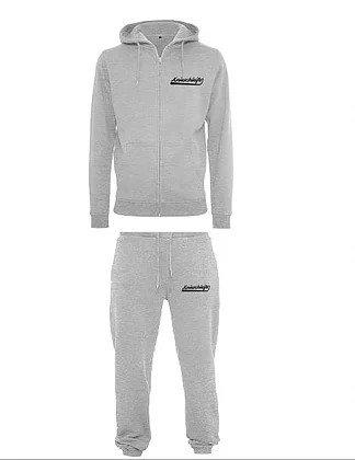 Streetware Joggerset Jacke mit Hose in Grau oder schwarz wählbar