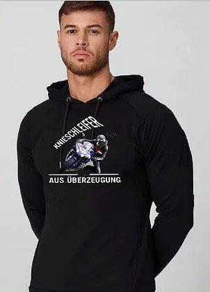 Dein Motiv auf dem Pullover mit Normalem großen Logo auf dem Rücken