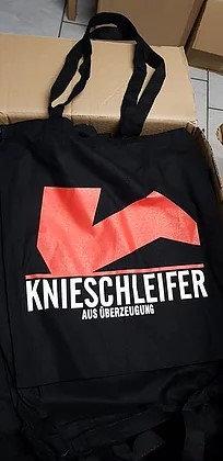 Einkaufstasche schwarz mit zwei Farbendruck