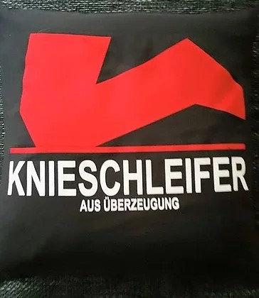 Knieschleifer Deko-Kissen 40x40cm