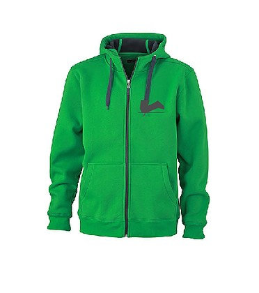 Der Legendäre Zipper außen grün innen grau