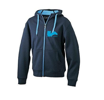 Der Legendäre Zipper außen dunkel blau innen hell blau