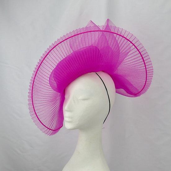 Fuchsia Pink Crinoline Headpiece