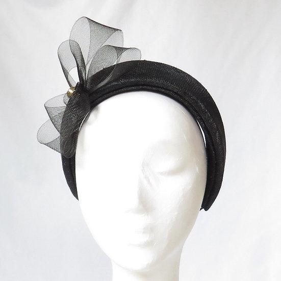 Black Sinamay Headband