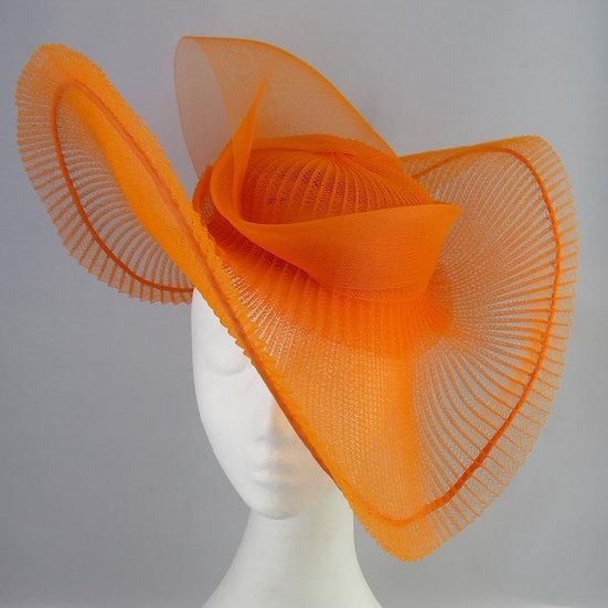 Orange Crinoline Headpiece