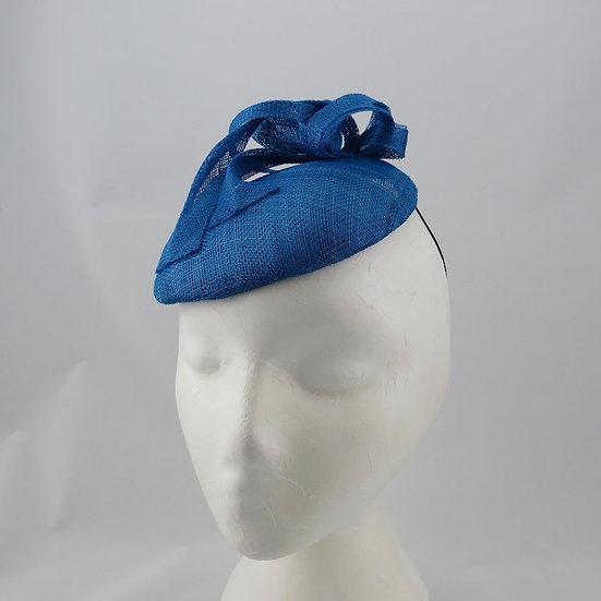 Electric blue - Blue button hat