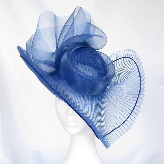 Cobalt Blue Crinoline Headpiece