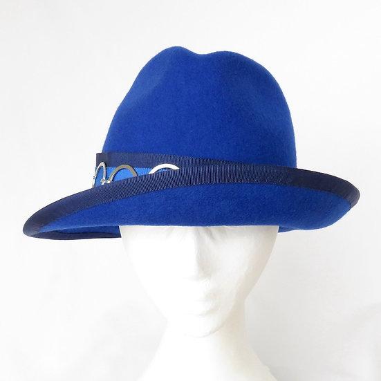 Royal Blue Funky Felt Fedora