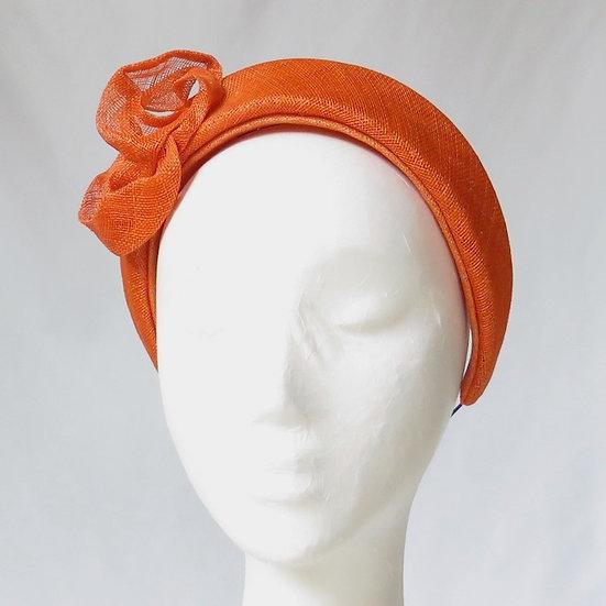 Orange Sinamay Headband
