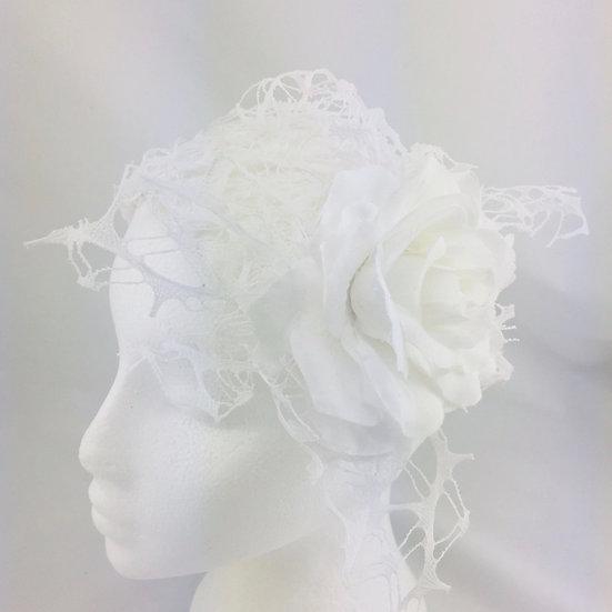 White lace headband