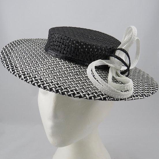 Black & White Boater