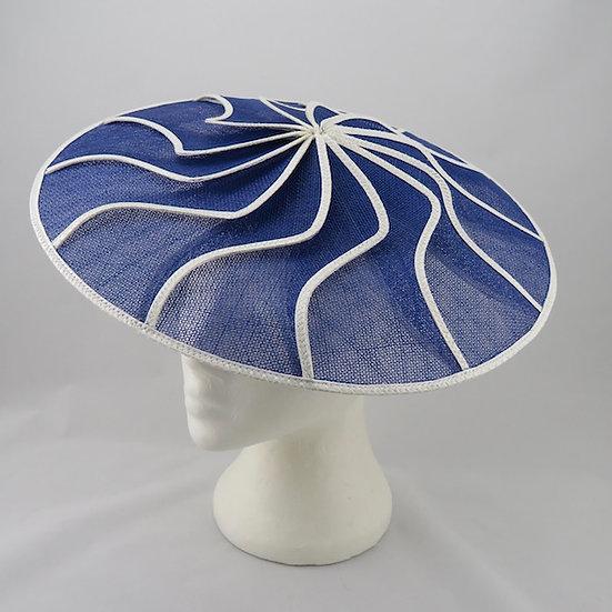 Royal Blue & White Geometric Brim