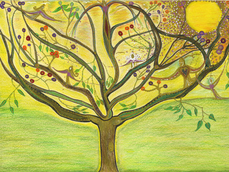 """Divine Tree of Life"" Selected by Saatchi and features at Saatchi Art Gallery in Chelsea London"