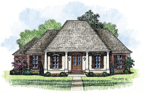 The mayberry madden home design acadian house plans for Mayberry house plan