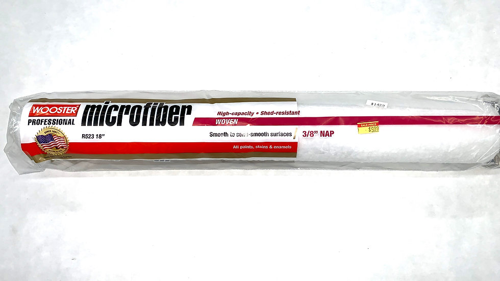 """18"""" x 3/8"""" NAP Wooster Microfiber Roller Cover"""