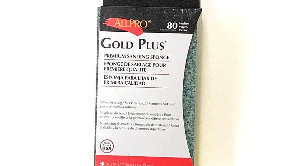 80 Medium Grit Gold Plus Sanding Sponge