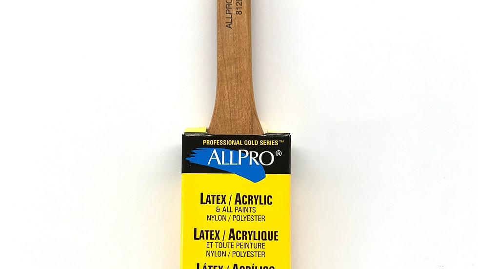 "1 1/2"" Allpro Gold Spitfire Angled Brush"