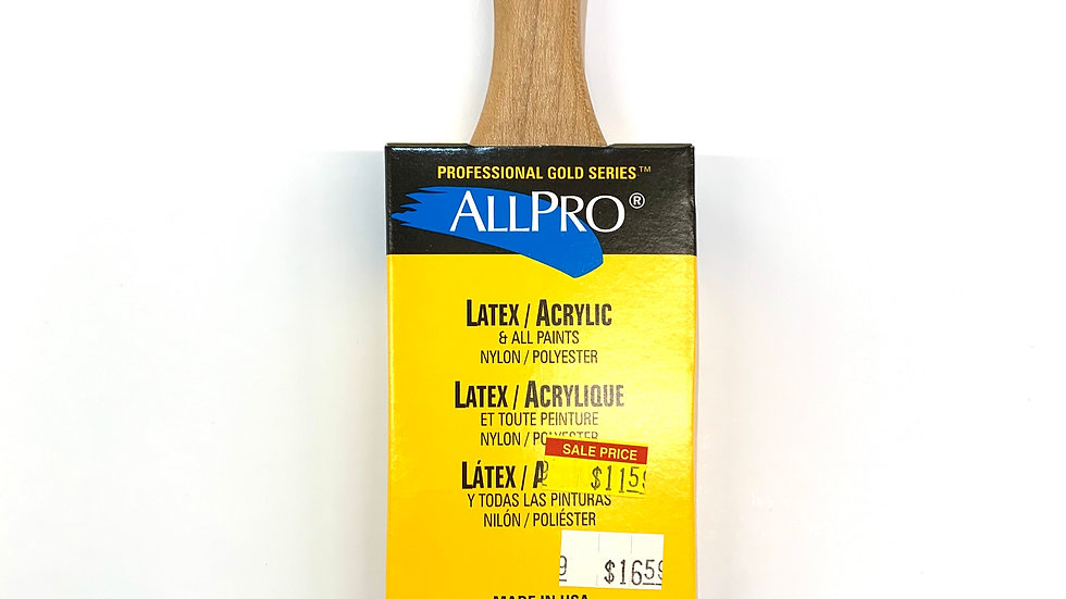 "3"" Allpro Gold Stealth Angled Brush"