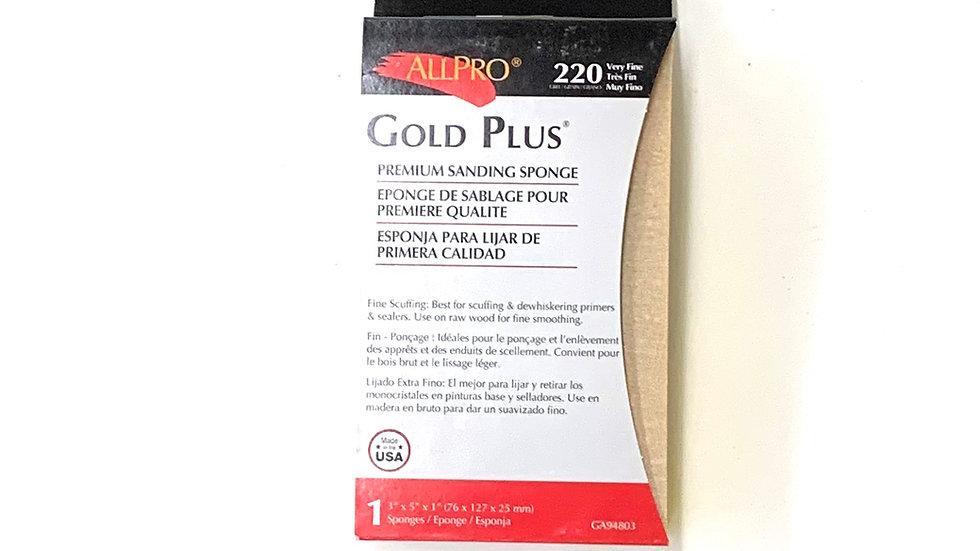 220 Very Fine Grit Gold Plus Sanding Sponge