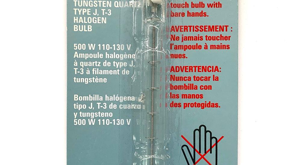 500W 110-130V Tungsten Quartz Halogen Bulb