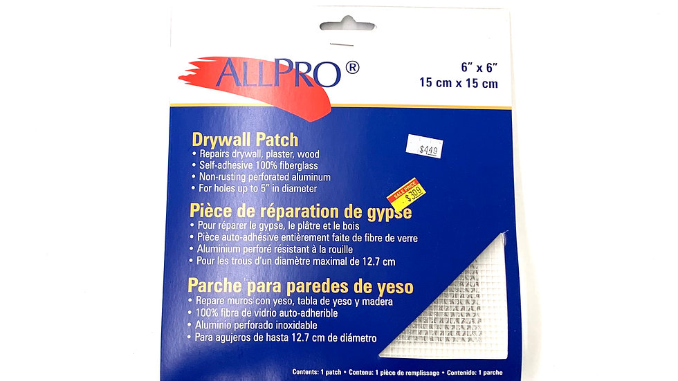 "6""x6"" Drywall Patch"