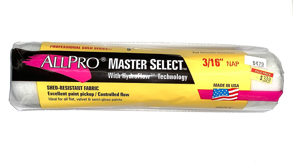 """9"""" x 3/16"""" Master Select Roller Cover"""