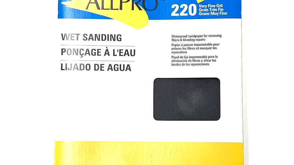 220 Very Fine Grit Wet Sanding Sand Paper 5 Pack