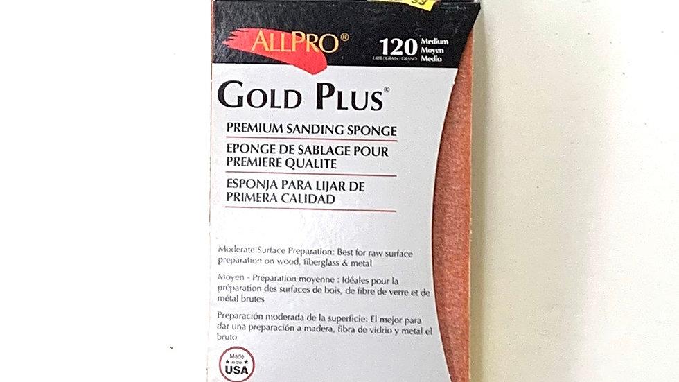 120 Medium Grit Gold Plus Sanding Sponge