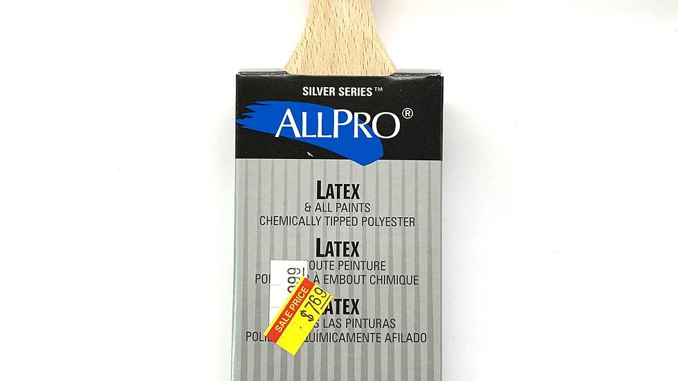 "2"" Allpro Silver Series Short Handle Angled Brush"