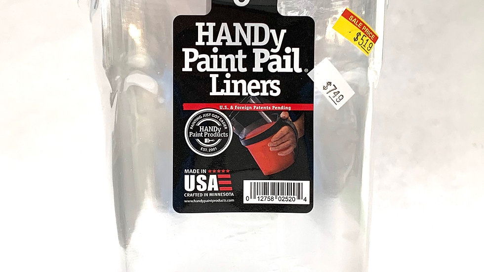 6 Pack of Handy Paint Pail Liners