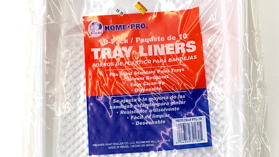"10 Pack of 9"" Plastic Tray Liners"