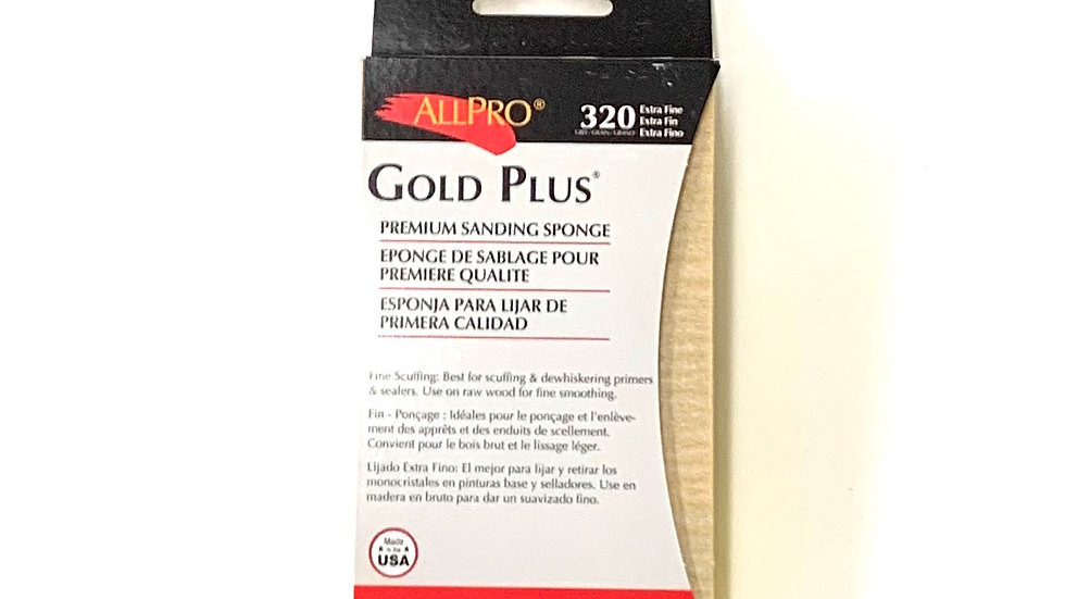 320 Extra Fine Grit Gold Plus Sanding Sponge