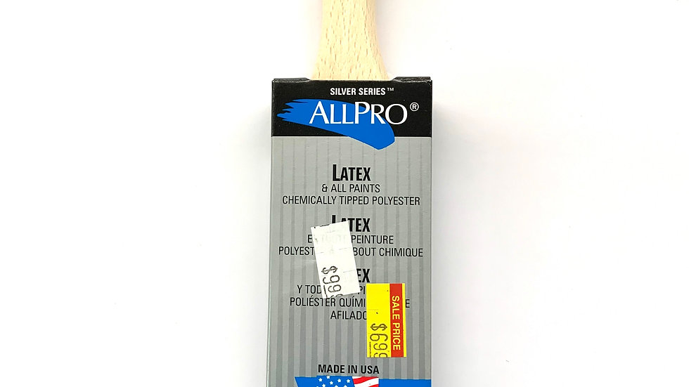 """1 1/2"""" Allpro Silver Stealth Angled Brush"""