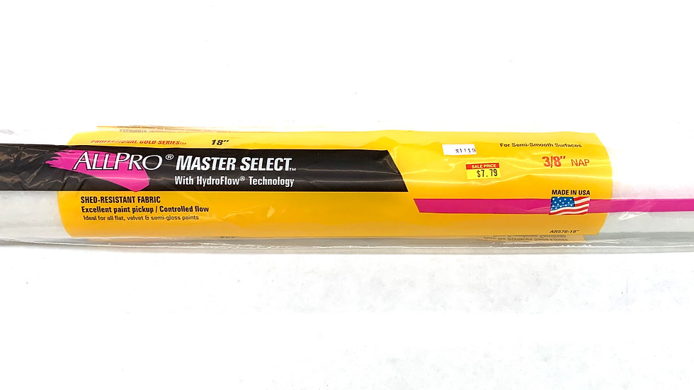 "18""x3/8"" NAP Master Select Roller Cover"