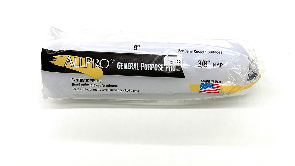 """9""""x3/8"""" NAP General Purpose Pro Roller Cover"""