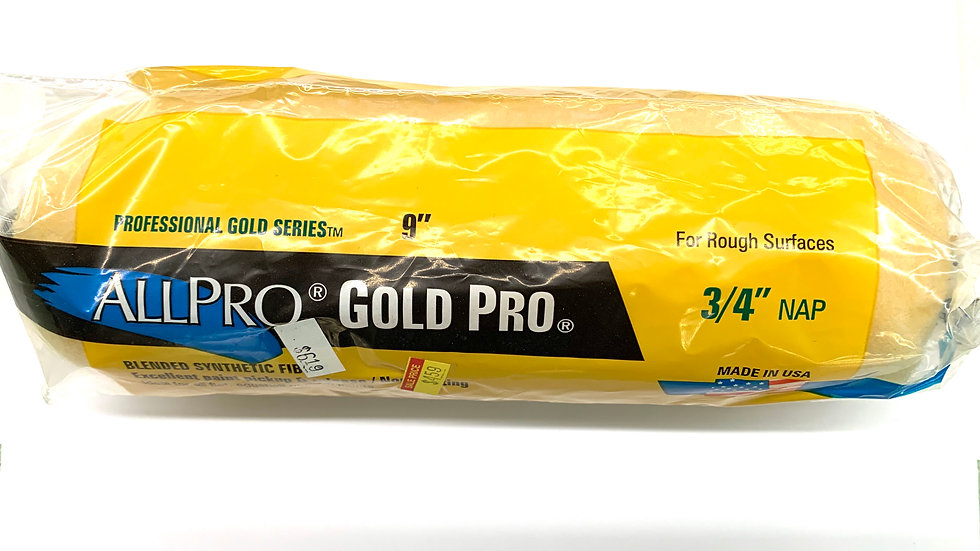 """9""""x 3/4"""" Gold Pro Roller Cover"""