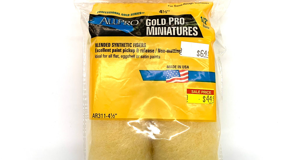 """4 1/2"""" Gold Pro Miniatures Twin Pack"""