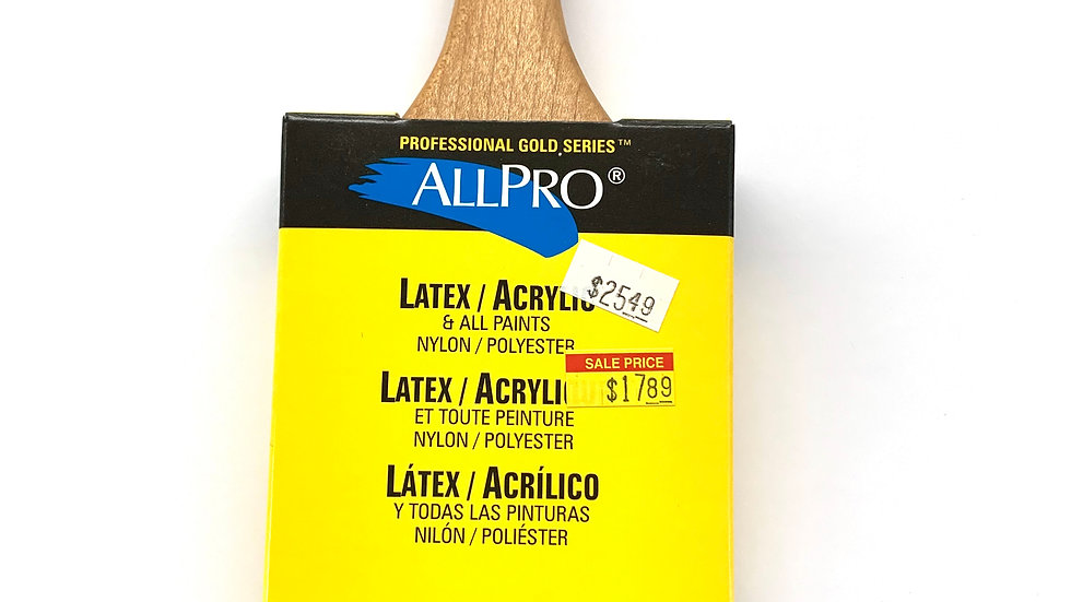 "3"" Allpro Gold Spitfire Angled Brush"