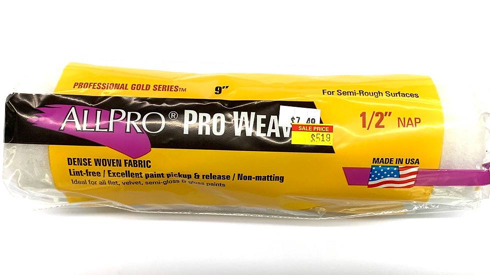 """1/2"""" NAP Pro Weave Roller Cover"""