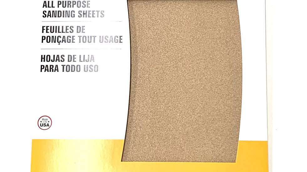 150 Very Fine Grit Sand Paper 5 Pack