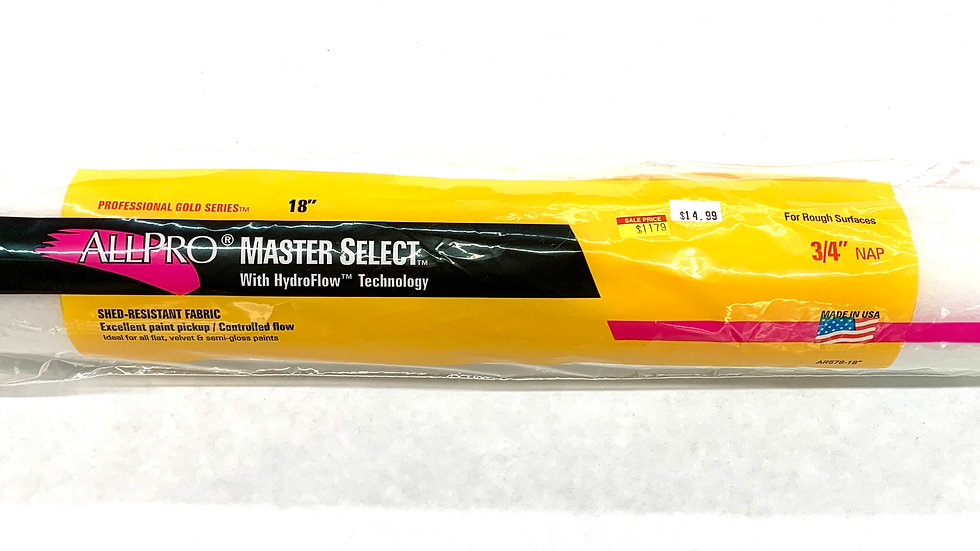 "18""x3/4"" NAP Master Select Roller Cover"