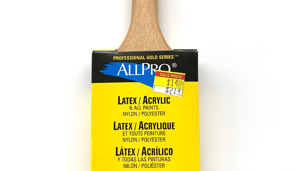 "2 1/2"" Allpro Gold Spitfire Angled Brush"