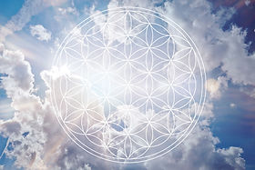 Flower of life in the sky as holistic re
