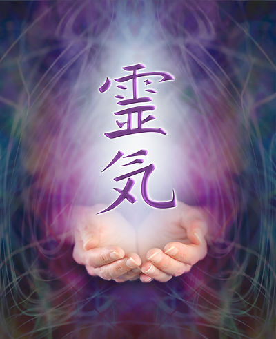 Sending Reiki healing - Female cupped ha