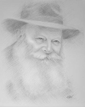 Lubavitcer Rebbe-Black & White